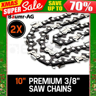 """2 X 10"""" BAUMR-AG CHAINSAW CHAIN 10in Bar Replacement for SX25 25cc Arborist Saws"""