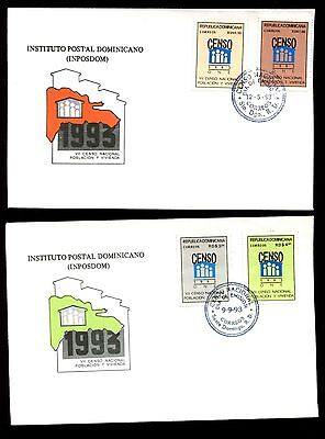 Dominican Republic 1993 Population And Housing Census FDC Set #C5529