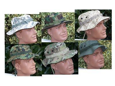 Boonie Hat Multi Cam Rip Stop OD Green Army Military USMC Infantry P38