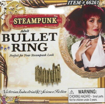 SteamPunk Cosplay Victorian Bullet Belt Finger Ring NEW UNUSED