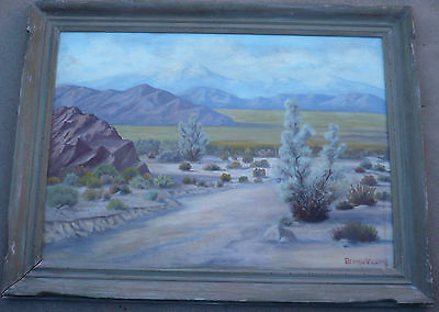 George V. Lewis, EARLY CALIFORNIA DESERT IMPRESSIONISM CA OIL PLEIN AIR PAINTING
