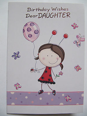 Daughter Birthday Card On Your Birthday Lovely Greeting Card