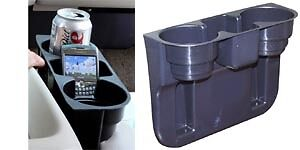 Perfect fit for most vehicle, holds 2 drinks+iphone+ipod cell phone keys