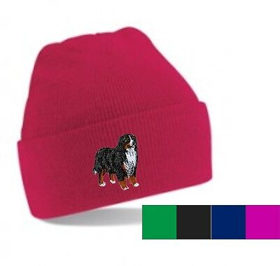 Bernese Mountain Dog Beanie Hat  Embroidered by Dogmania