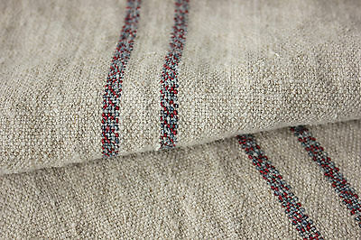Vintage homespun fabric upholstery material SOFT  3.9yds by 21 WASHED linen