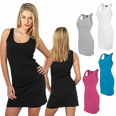 Urban Classics Damen Sleeveless Dress Kleid Strandkleid Cocktail Mini Xs-Xl