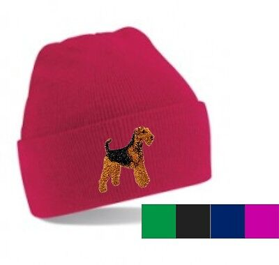 Airedale Terrier Beanie Hat Embroidered by Dogmania