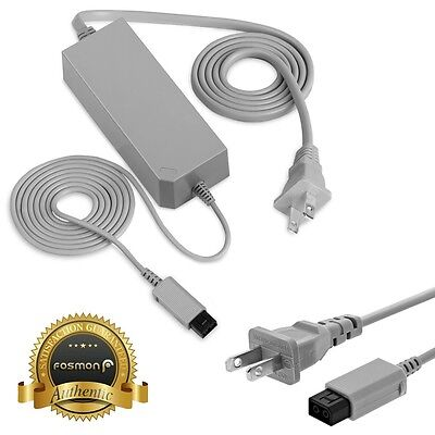 Fosmon for Nintendo Wii Replacement Wall AC Power Adapter Supply Cord Cable Plug