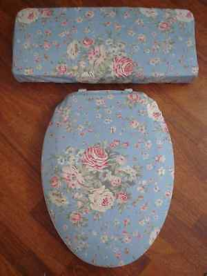 Ralph Lauren ..Shelter Island ..Western Victorian Roses ...Toilet Seat Cover Set