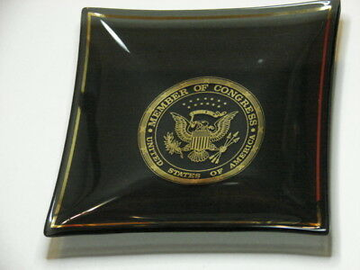 Unused 'Member Of Congress' Ashtray! Smoked Glass! New