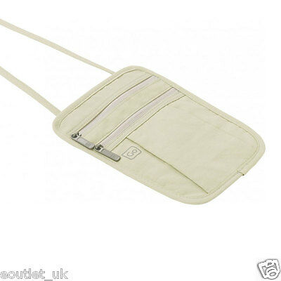 Go Travel Passport/Money Pouch - Secure Neckband Traveling NEW