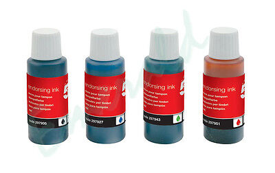 Rubber Stamp Pad Endorsing Ink Refill - Black, Blue, Red & Green - Fast Dispatch