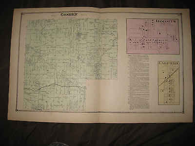 Antique 1874 Goshen Township Damascus Garfield Patmos Mahoning County Ohio Map