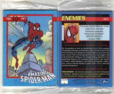 The Amazing Spider-Man 30th Anniversary Set of 5 Promo Cards 1992 Impel SEALED