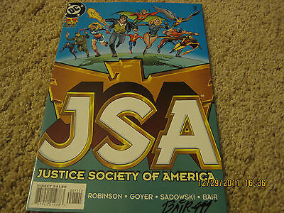 Justice Society of America #1 Signed by Michael Bair! LOOK!