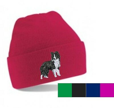 Border Collie Beanie Hat Embroidered by Dogmania