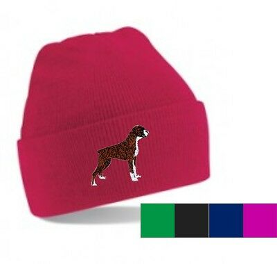 Boxer Dog Beanie Hat Embroidered by Dogmania