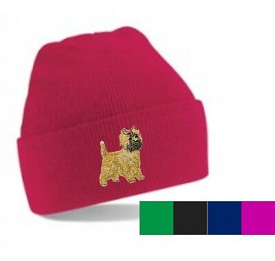 Cairn Terrier Beanie Hat Embroidered by Dogmania
