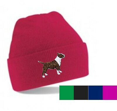Bull Terrier Beanie Hat Embroidered by Dogmania