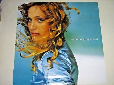 """Madonna / Rare Promo Poster  """"Ray of Light"""" / Exc.+ New cond. 24 x 24"""""""