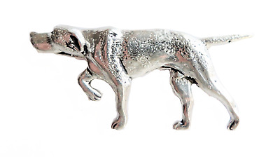 Pointer Dog Pewter Pin Badge - Hand Made in Cornwall - B10