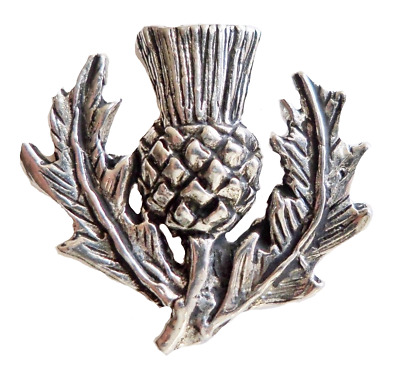Scotland Scottish Thistle Pewter Pin Badge - Hand Made in Cornwall - B93