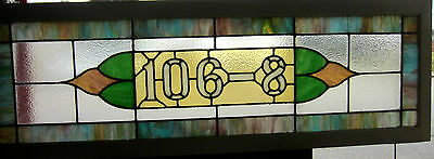 ~ Antique American Stained Glass Transom Window 106-8 ~ Architectural Salvage ~