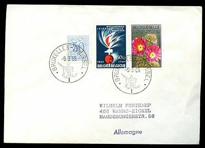 Belgium 1965 Cover To Germany #C6614