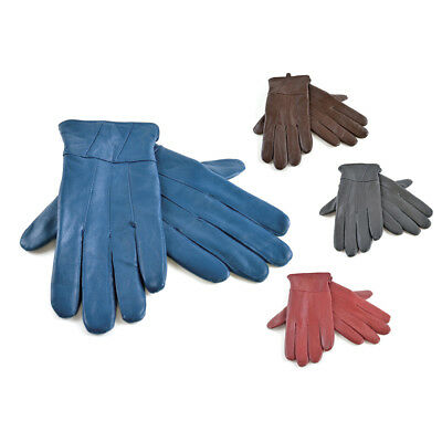 Ladies Soft Leather Fleece Lined Warm Winter Gloves in sizes S/M M/L