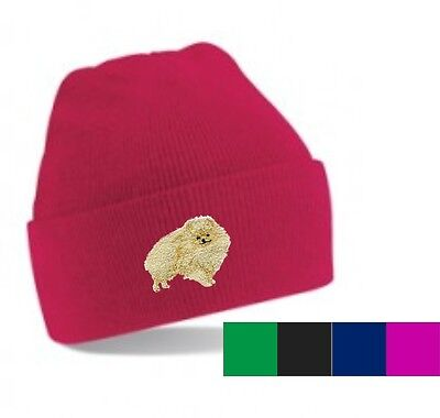 Pomeranian Beanie Hat Embroidered by Dogmania