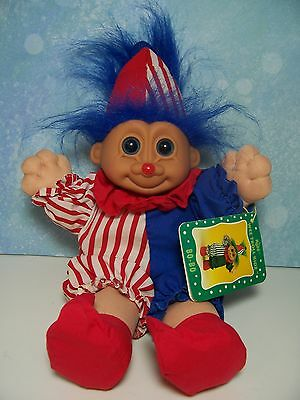 "BO-BO THE CLOWN W/HANG TAG - 9"" Russ Wee Troll Kidz Doll - EXCELLENT CONDITION"
