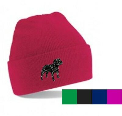 Staffordshire Bull Terrier Beanie Hat Embroidered by Dogmania