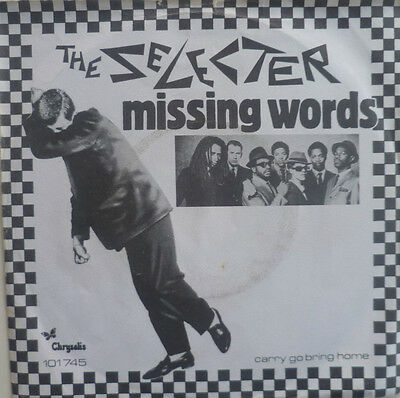 "7"" 1980 SKA RARE ! THE SELECTER : Missing Words /VG++"