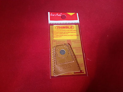 Coin Leather Thimble Quilting Sewing Notions Large