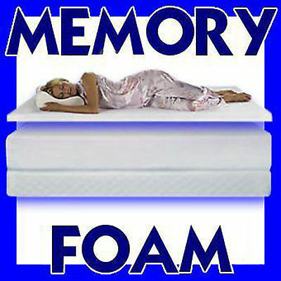 """Memory Foam Mattress Topper Single Double King Superking 1""""-2""""-3"""" And 4"""" Thick"""