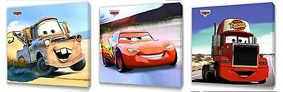 Disney Cars set of Three Wall / Plaques canvas pictures