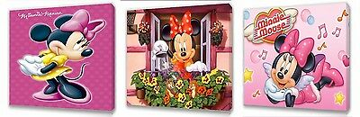 Minnie Mouse set of Three Wall / Plaques canvas pictures