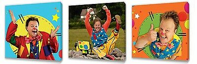 Mr Tumble set of Three Wall / Plaques canvas pictures