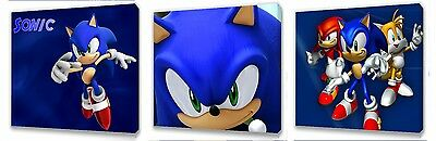 Sonic the Hedgehog set of Three Wall / Plaques canvas pictures