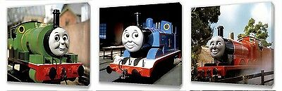 Thomas the tank engine & Friends set of Three Wall / Plaques canvas pictures