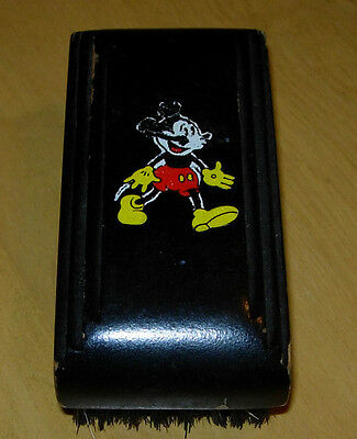 Vintage  Mickey Mouse Hair Brush  Hughes  Usa C. 1930'S  Early  Walt Disney