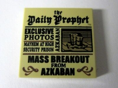 LEGO HARRY POTTER - Tan Tile 2 x 2 with Newspaper 'Daily Prophet' Pattern - Tan