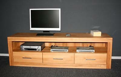 minimal tv kommode lowboard buche massiv natur ge lt. Black Bedroom Furniture Sets. Home Design Ideas