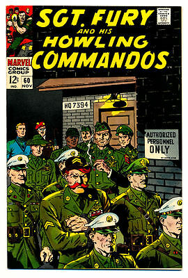 SGT. FURY #60 VF, Sergeant Nick and His Howling Commandos War Marvel Comics 1968
