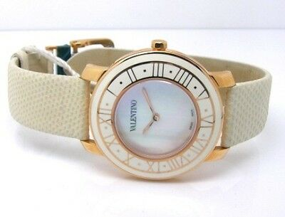 Valentino Luxury Histoire Ladies Leather Strap Watch V46MBQ White Accessory New