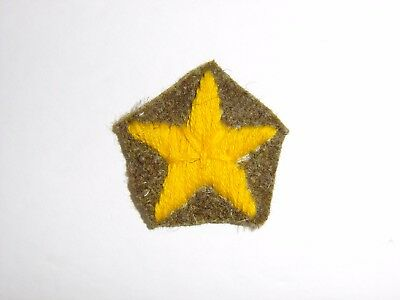 b1684 WWII Japanese Army Yellow Cap Star for Field Cap