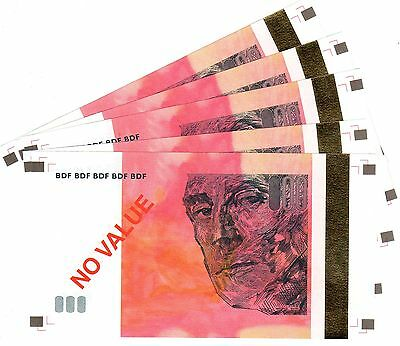 Lot 5 Billets France Test Note Echantillon Original Bdf 20 Euro € Maurice Ravel