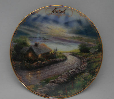 Thomas Kinkade, Simpler Times Plate,  March, New
