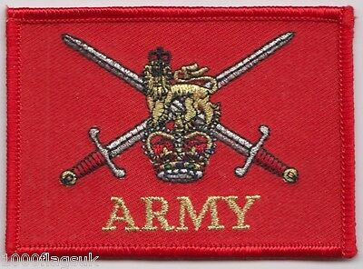 British Army Ensign Flag Embroidered Crest Badge Patch - MOD Approved