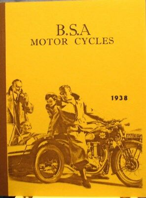 1938 B S A Motor Cycle Sales Book  With All Models Plus Side  Cars   Illustrated